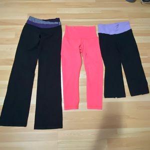 Lot of 3 lululemon leggings size 4